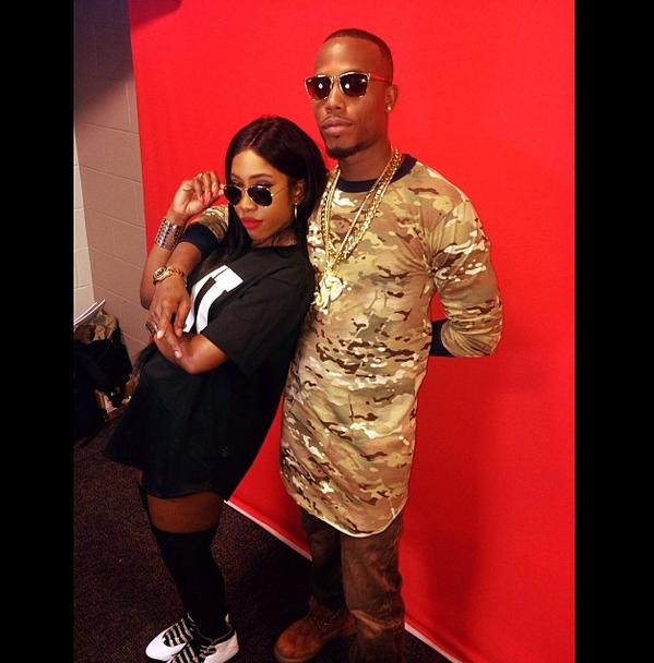Sevyn rocks the black shades with B.o.B. for Instagram.