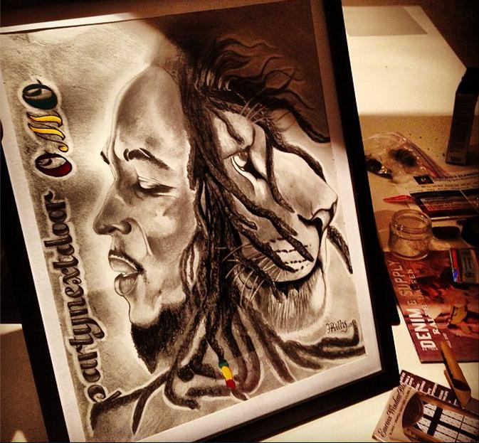 Enjoys Art…Especially Bob Marley Inspired Art.
