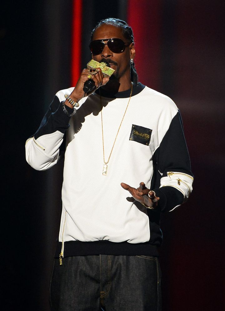 Snoop worked at a supermarket while trying to make it in the rap game.