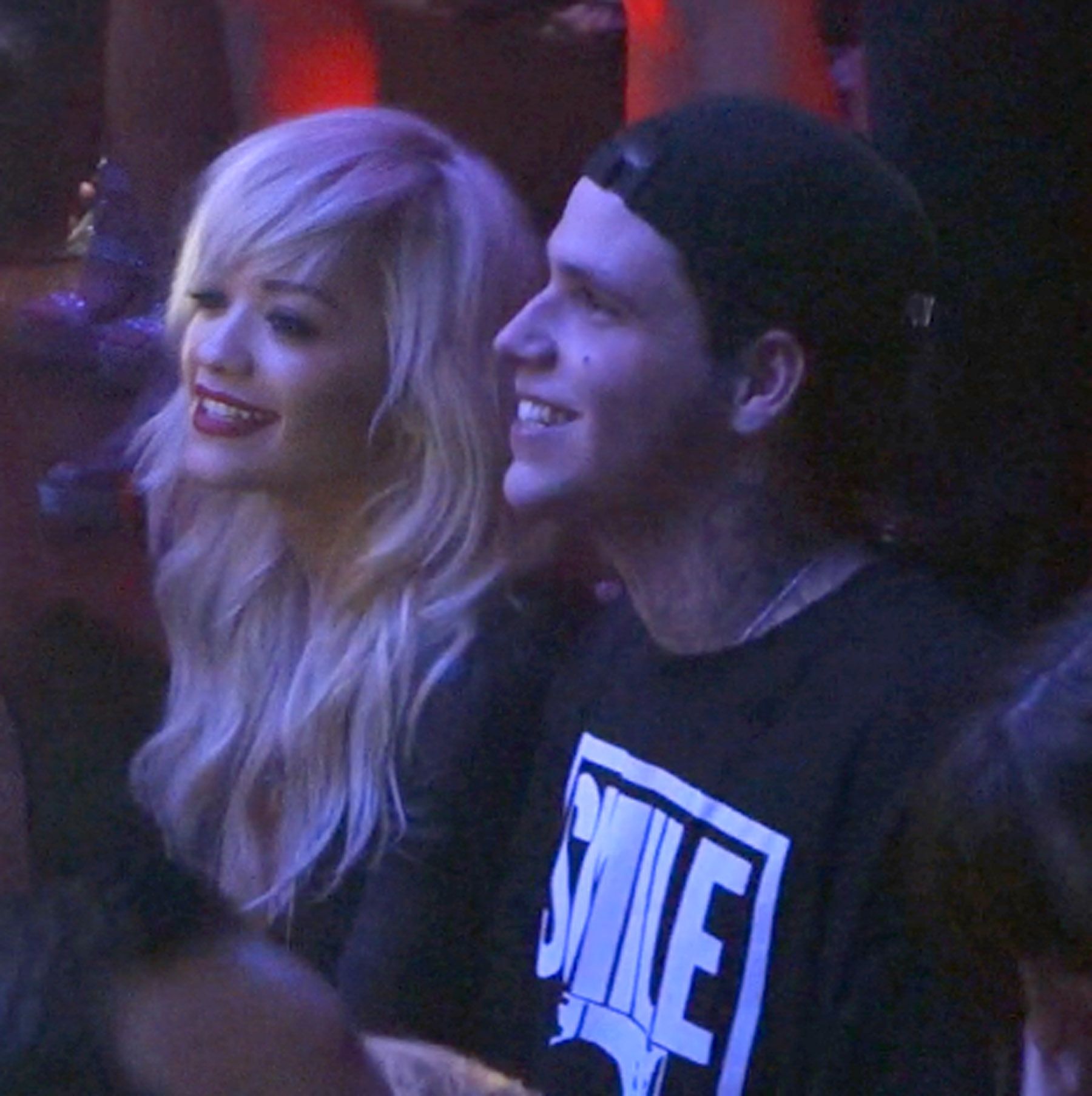 Rita Ora parties with Richard Hilfiger at her party inside TAO in Las Vegas on the same night her ex-boyfriend Calvin Harris was djing at a nearby club