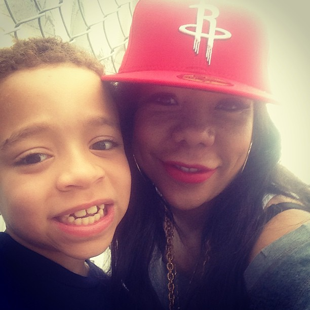 Tiny is all smiles with son King.