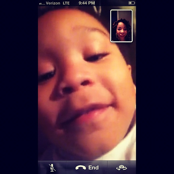 FaceTime with Major.