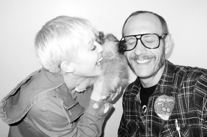 Miley Cyrus poses for Terry Richardson.