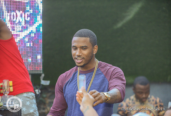 Trey Songz performs at Toxic Day Party in L.A.
