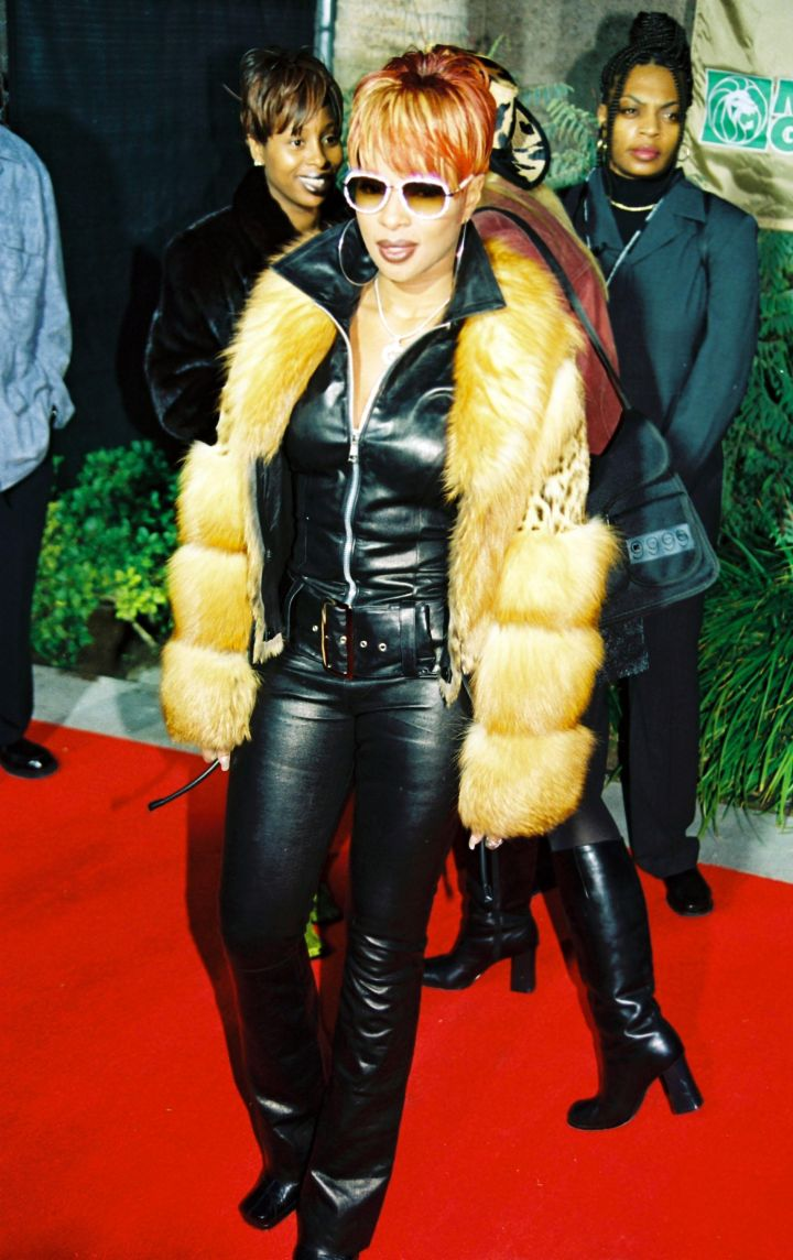 Leather and fur, two of Mary's favorites.