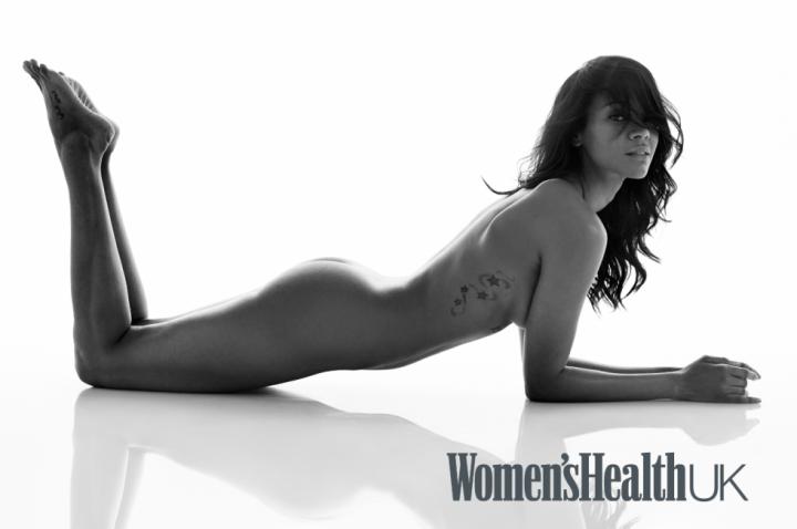 Zoe Saldana in Women's Health magazine.
