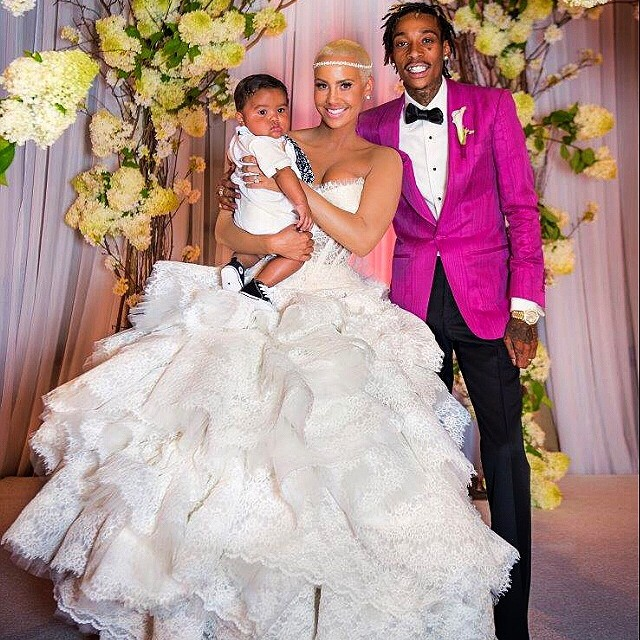 Wiz Khalifa and Amber Rose secretly married at the courthouse, then had a ceremony shortly after.