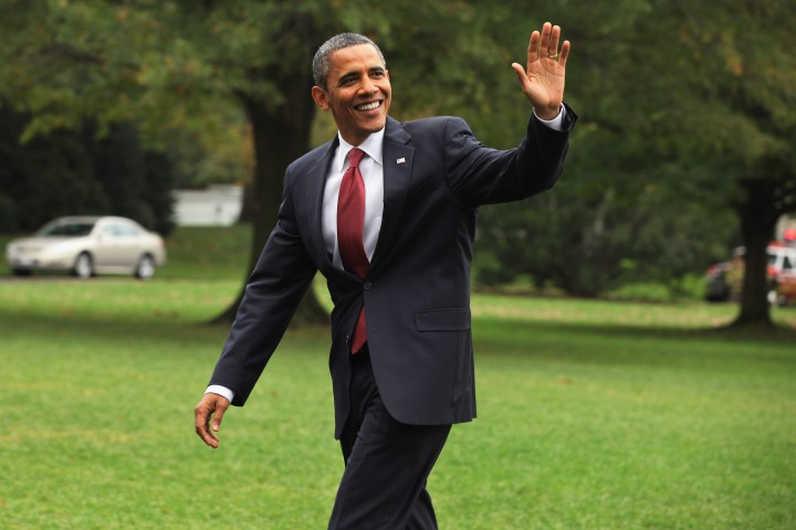 After waving to his haters, he waved to his supporters.