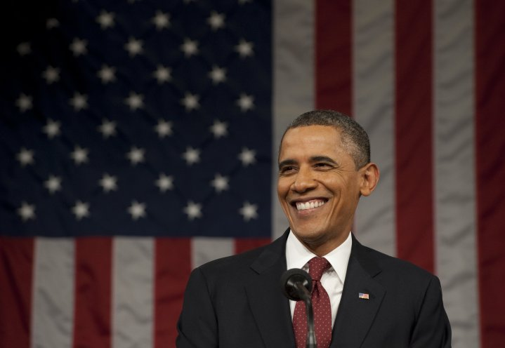 America the beautiful with Obama's darling smile.