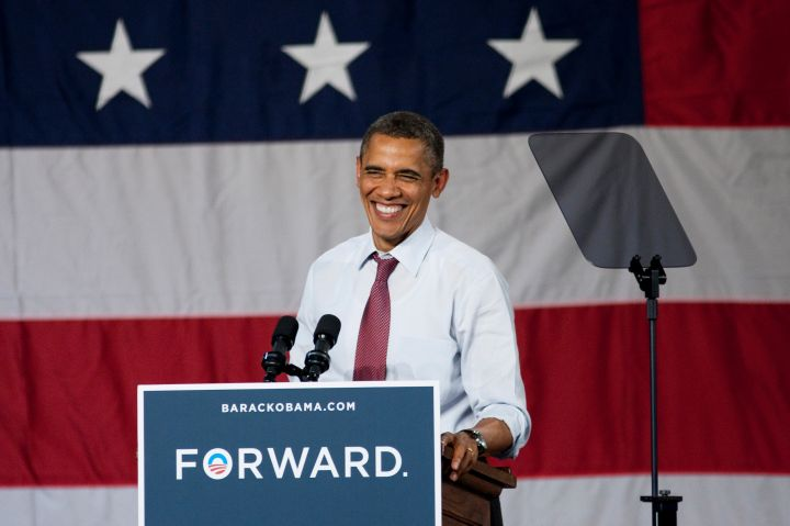 "We moved ""forward"" with Obama in 2012."