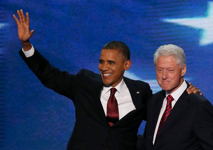 Bill can learn a thing or two from Obama's smiling game.