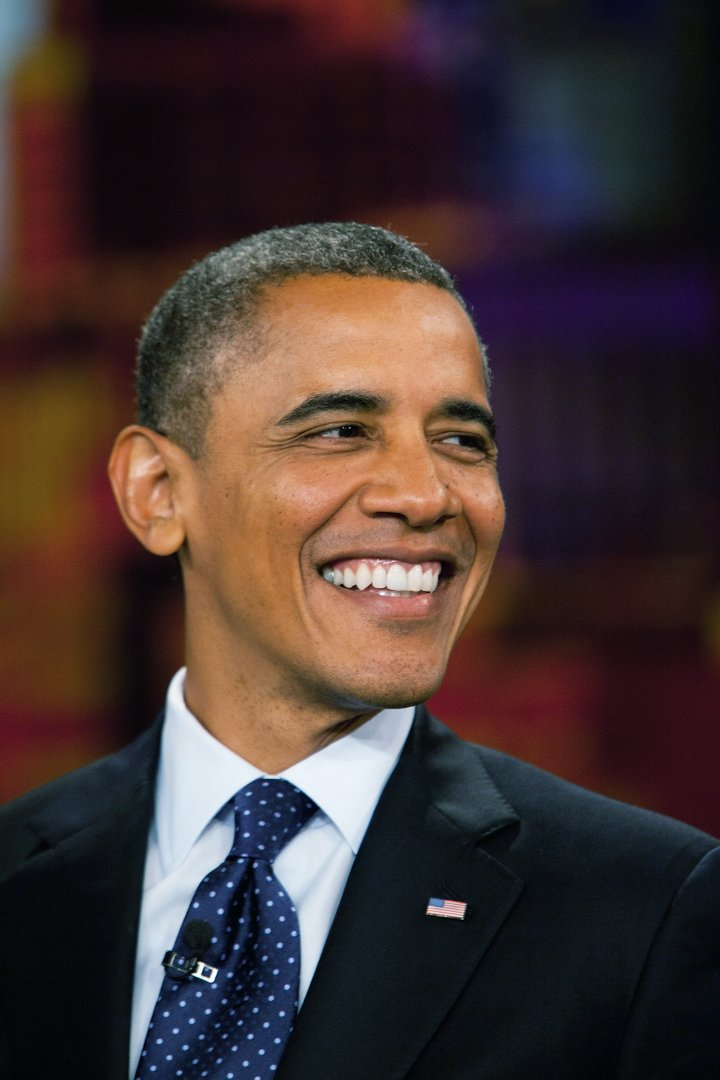 Obama and his smile are at it again.