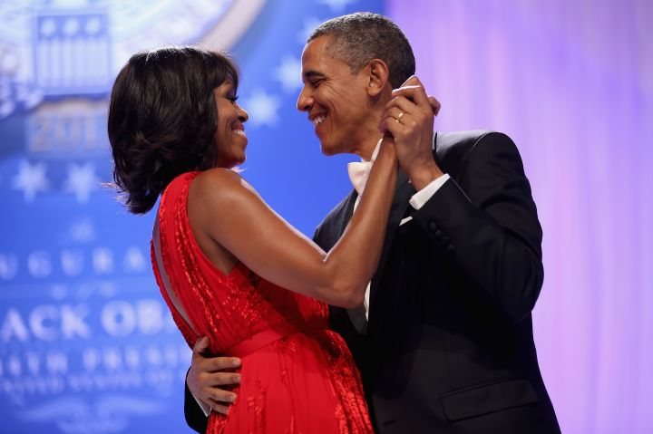 Obama has plenty of reasons to smile..he has Michelle.