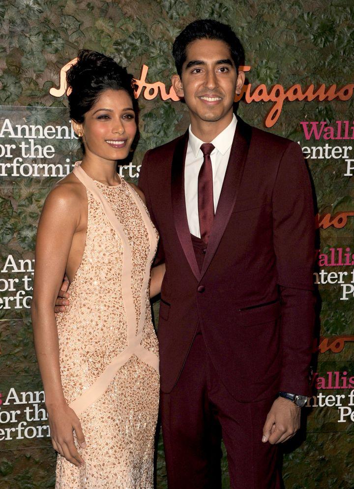 "Freida Pinto and Dev Patel met during the filming of ""Slumdog Millionaire."""
