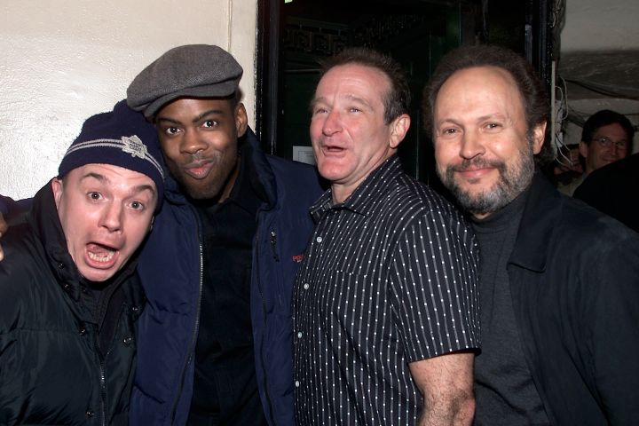 Robin Williams after a standup performance in 2002