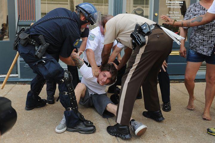 An arrest in Ferguson.