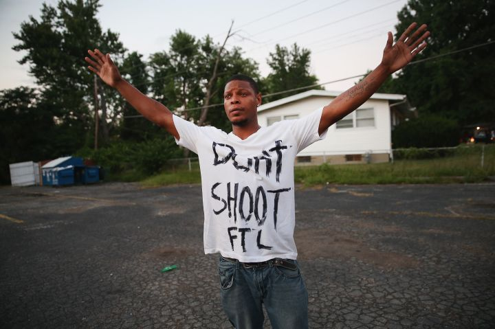 A man delivers a powerful message in the form of a t-shirt.