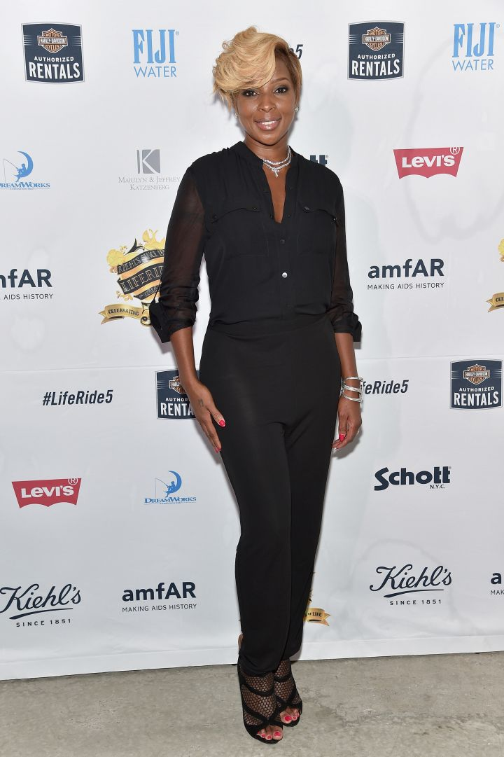 Mary J. Blige hits up the Kiehl's LifeRide Finale Event in New York City.