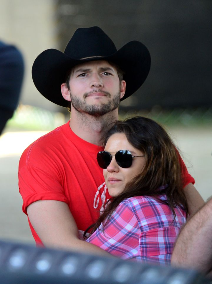 """Though they didn't become a couple until much later, Mila Kunis and Ashton Kutcher met on the set of """"That '70s Show."""""""