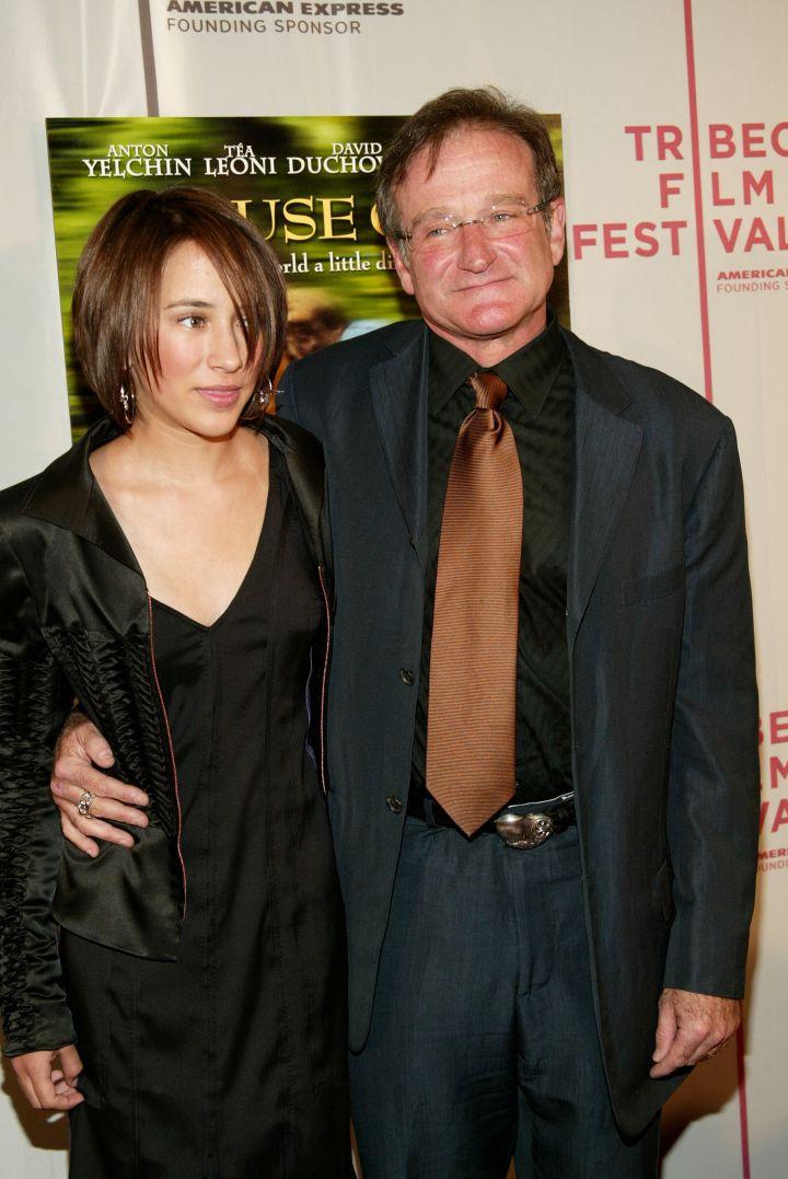 Robin Williams & daughter Zelda, 2004