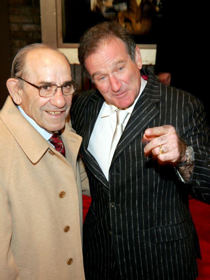 Robin Williams & Yogi Berra, 2004
