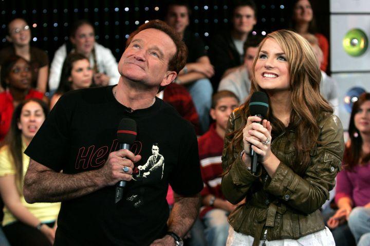 Robin Williams & JoJo, TRL, 2006
