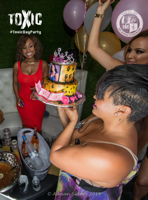 Angell Conwell Celebrating Her Birthday Right.