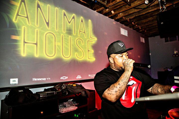 DJ Mustard Talking To The Crowd At #SummerFridays.