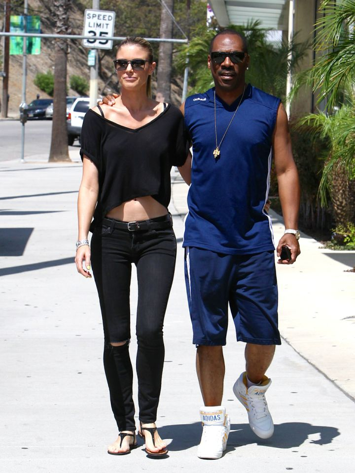 Eddie Murphy walks hand-in-hand with girlfriend Paige Butcher as they do what they always do: grab some coffee!
