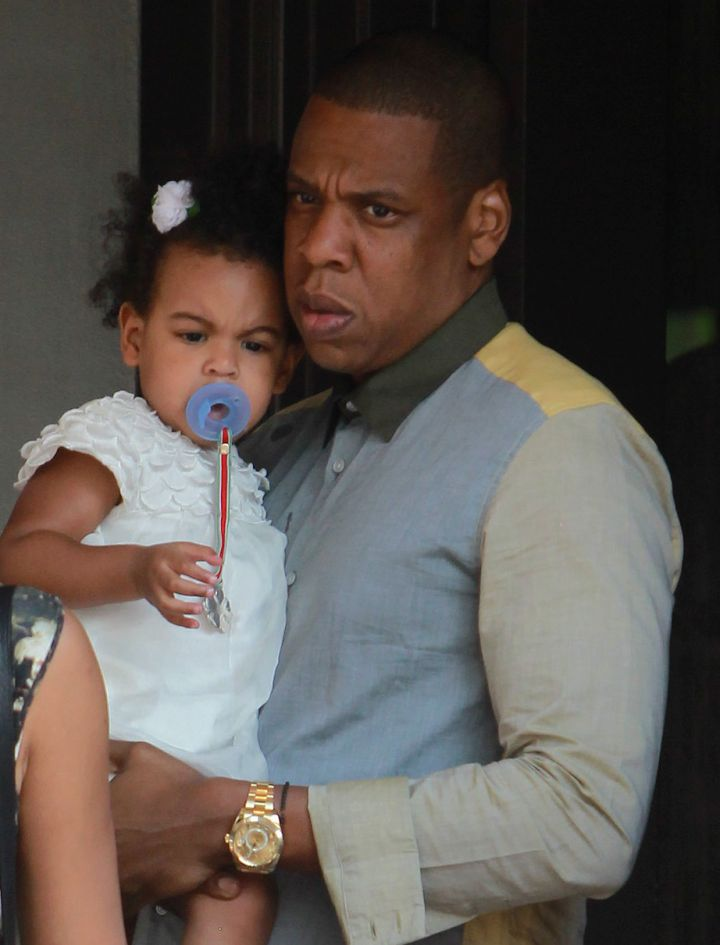 Blue Ivy Carter definitely gets her expressions from daddy Hov
