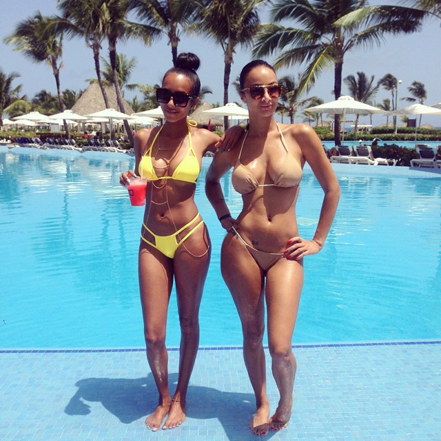 Mercedeh and Draya in DR.