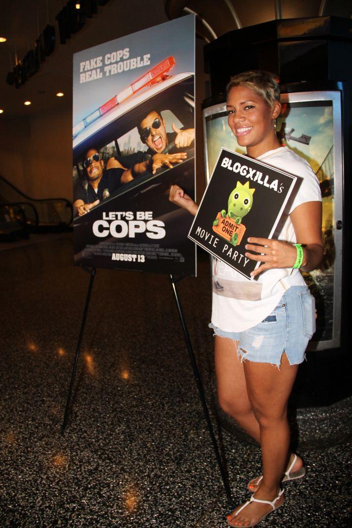"Dariana enjoys ""Let's Be Cops"" at the BlogXilla Movie Party."