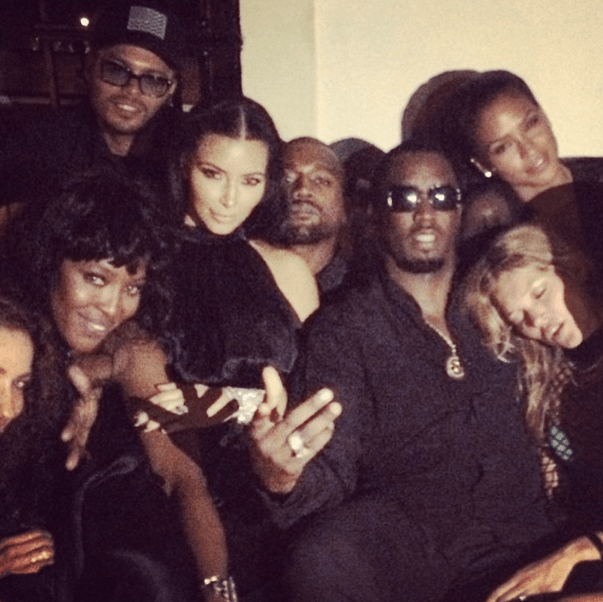 Diddy poses up KimYe, Naomi Campbelle, Cassie, and more in Ibiza