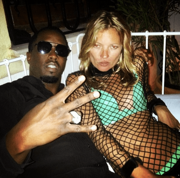 Diddy cozies up with Kate Moss