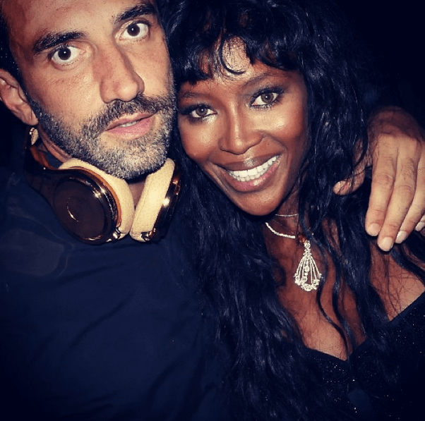 Naomi Campbell hangs out with Riccardo Tisci