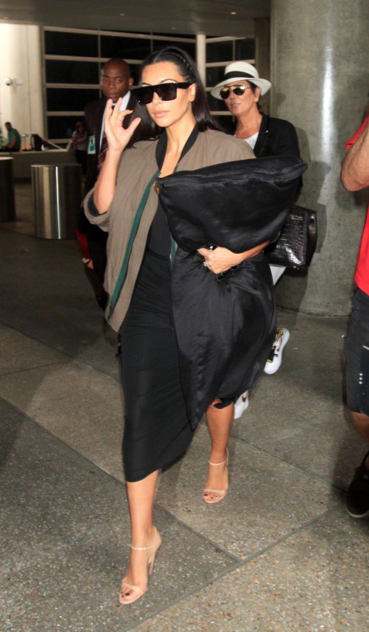Kim arrives in LAX in style
