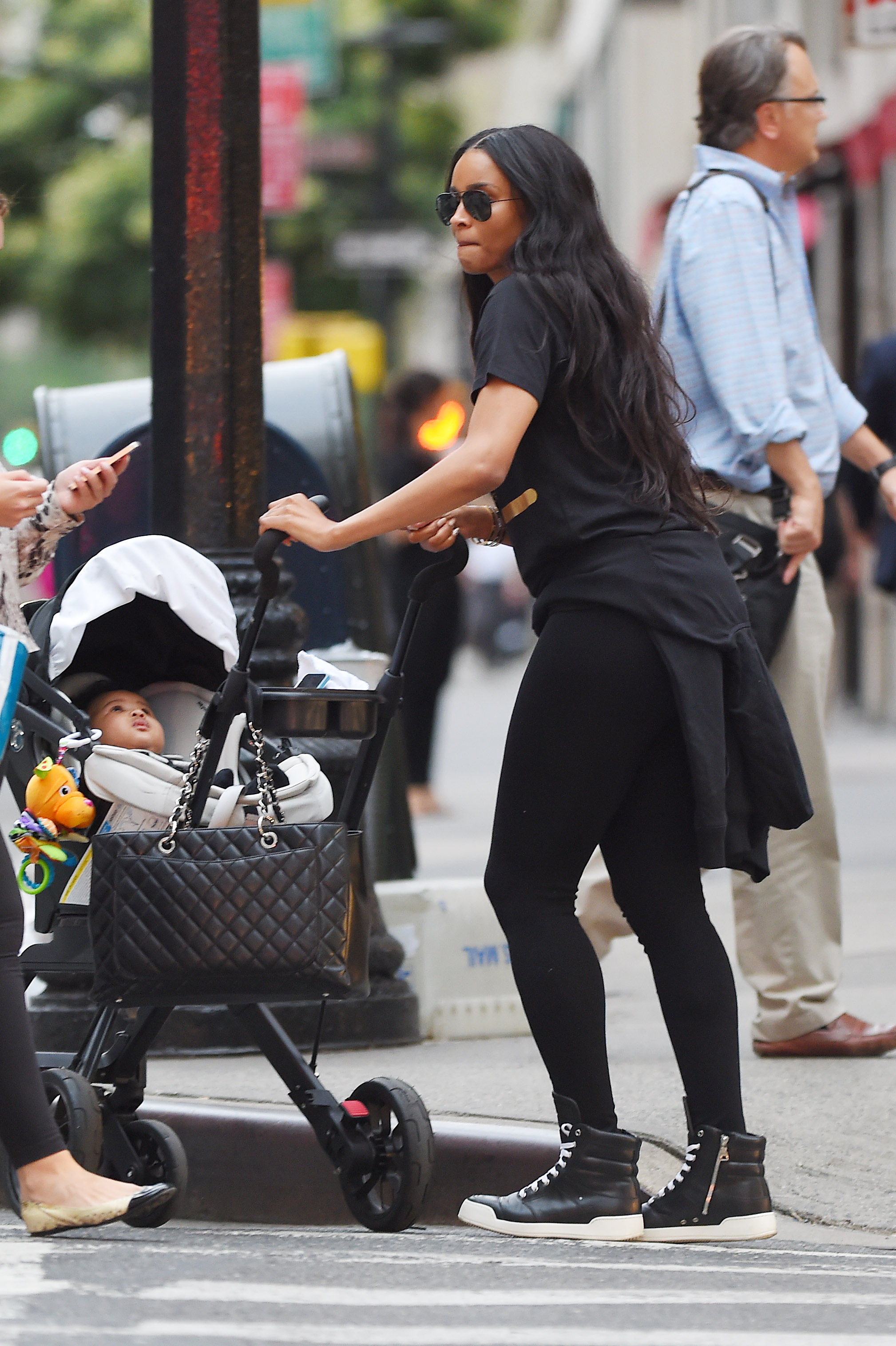 Ciara seen out for a late stroll with her son Future