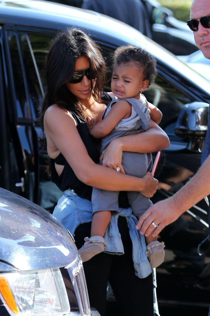 North West had a lond day at the zoo.