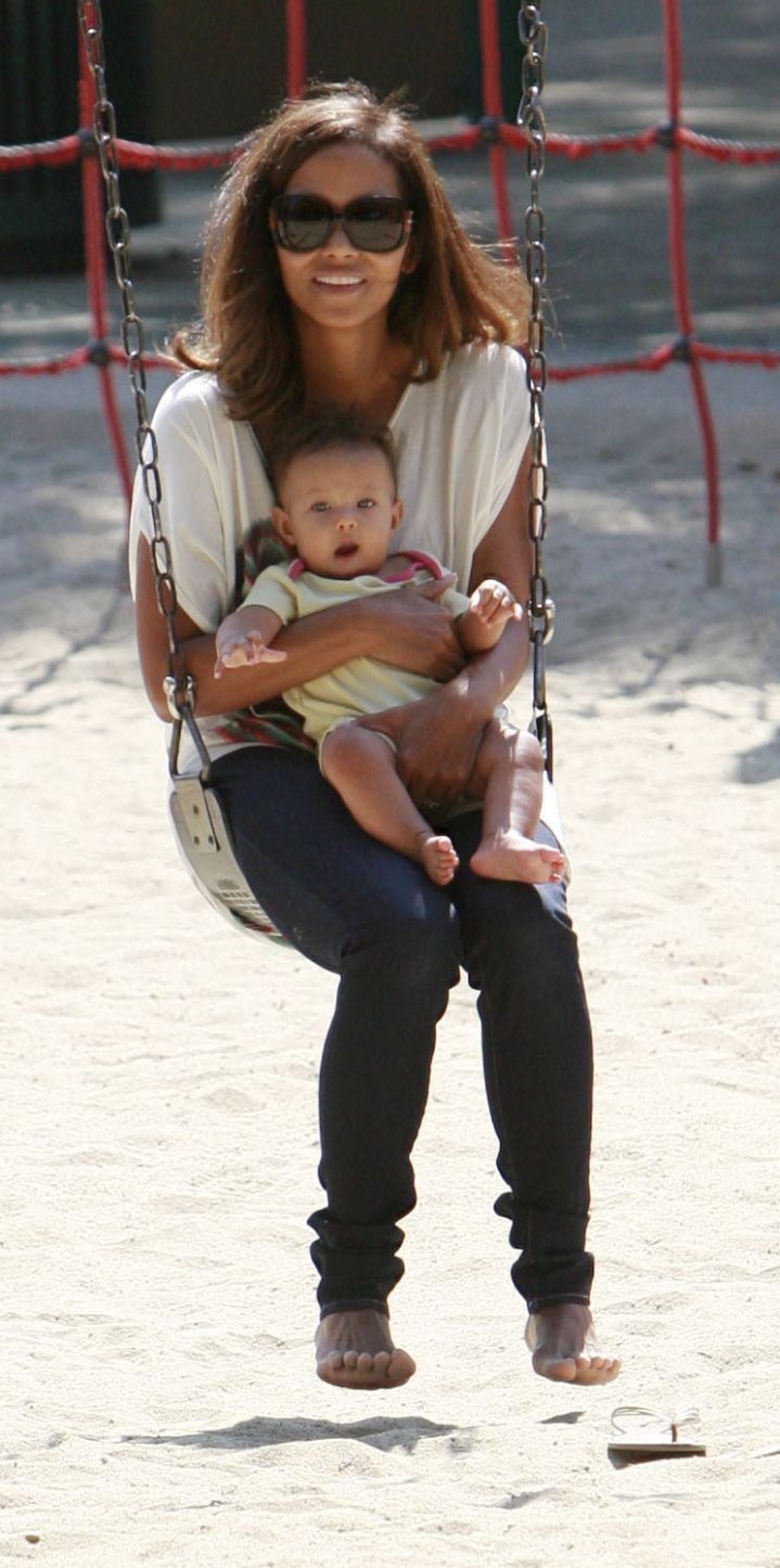 Nahla Aubry was such a little cutie when she was first born!