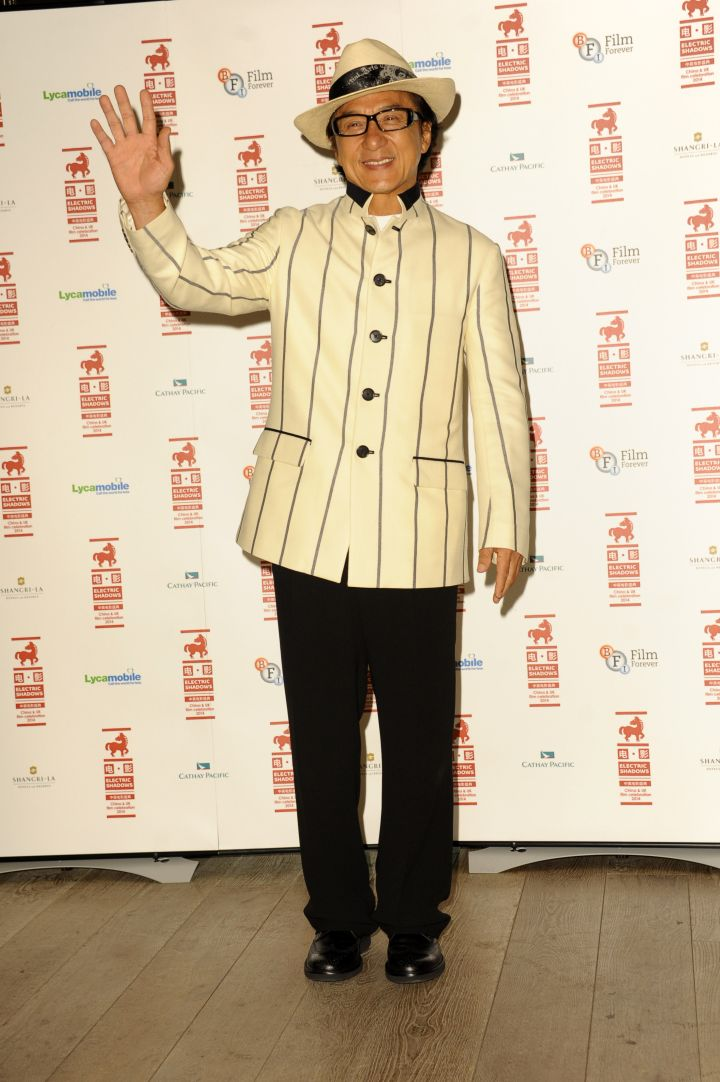 """Swag god Jackie Chan was dapper AF during a special screening of his new film """"Chinese Zodiac."""""""