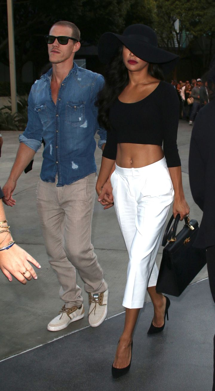 Naya Rivera and her new husband Ryan Dorsey hit the Staples Center in L.A. for the Justin Timberlake concert.