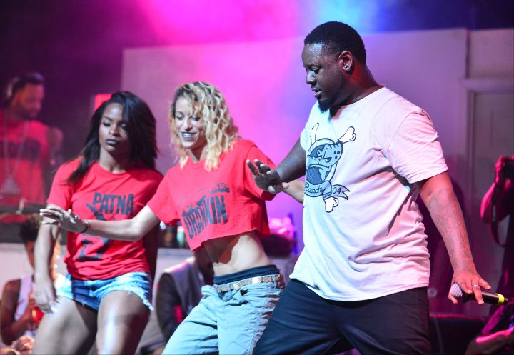 """T-Pain busts a move while rocking the crowd during his """"Drankin Patna Tour"""" at Revolution Live."""