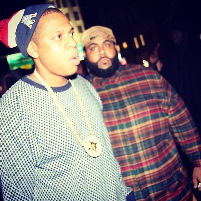 Jay Z and his bodyguard Stacks.