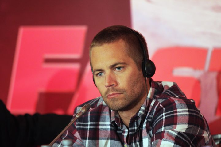 """Paul Walker taking questions during a """"Fast & Furious 5″ press conference."""