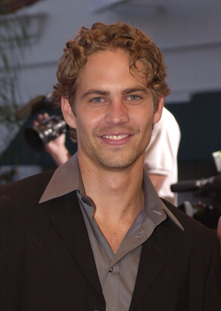 """Paul poses at the 2001 premiere of """"The Fast and the Furious."""""""