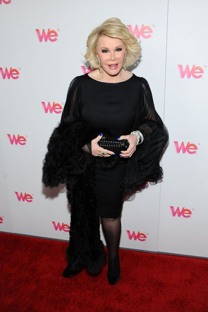 """Joan shows us once more how you work a red carpet at the premiere of her hit reality TV series """"Joan & Melissa: Joan Knows Best?"""""""
