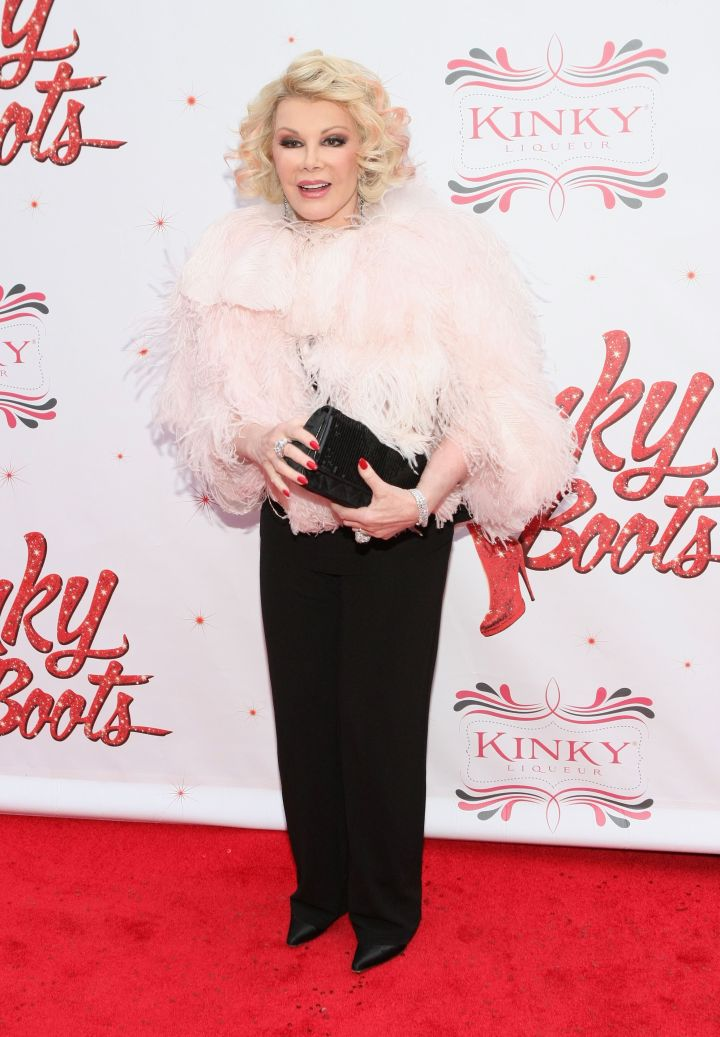 """Rivers heads to Broadway for the opening night of """"Kinky Boots."""""""