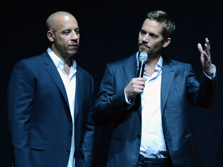Paul and Vin deliver a little speech at CinemaCon 2013.