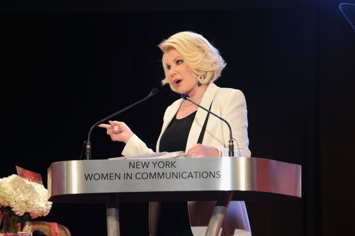 Joan is best known for her unique brand of comedy and being active in the fashion world, but she's also highly praised in the communications world.