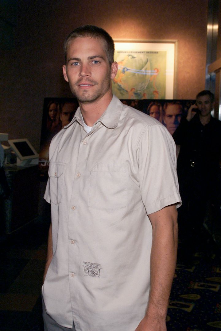 """Walker keeps it casual at an early screening of the 2001 film """"Joy Ride."""""""